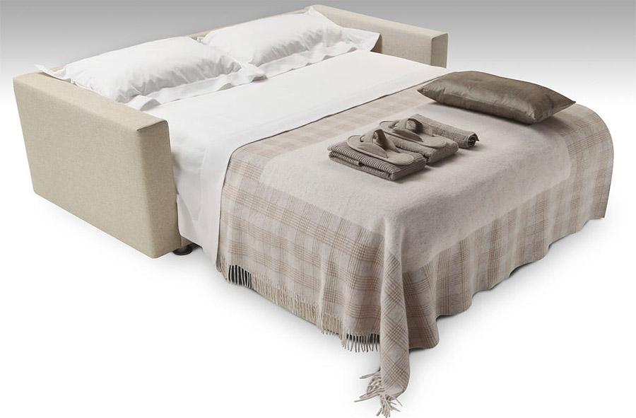 Divano letto in pelle club - Divano letto aperto ...