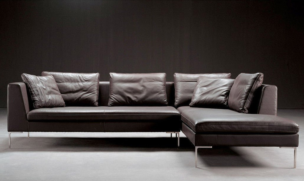 Divani in pelle, divani angolari e lineari. Catalogo 2017