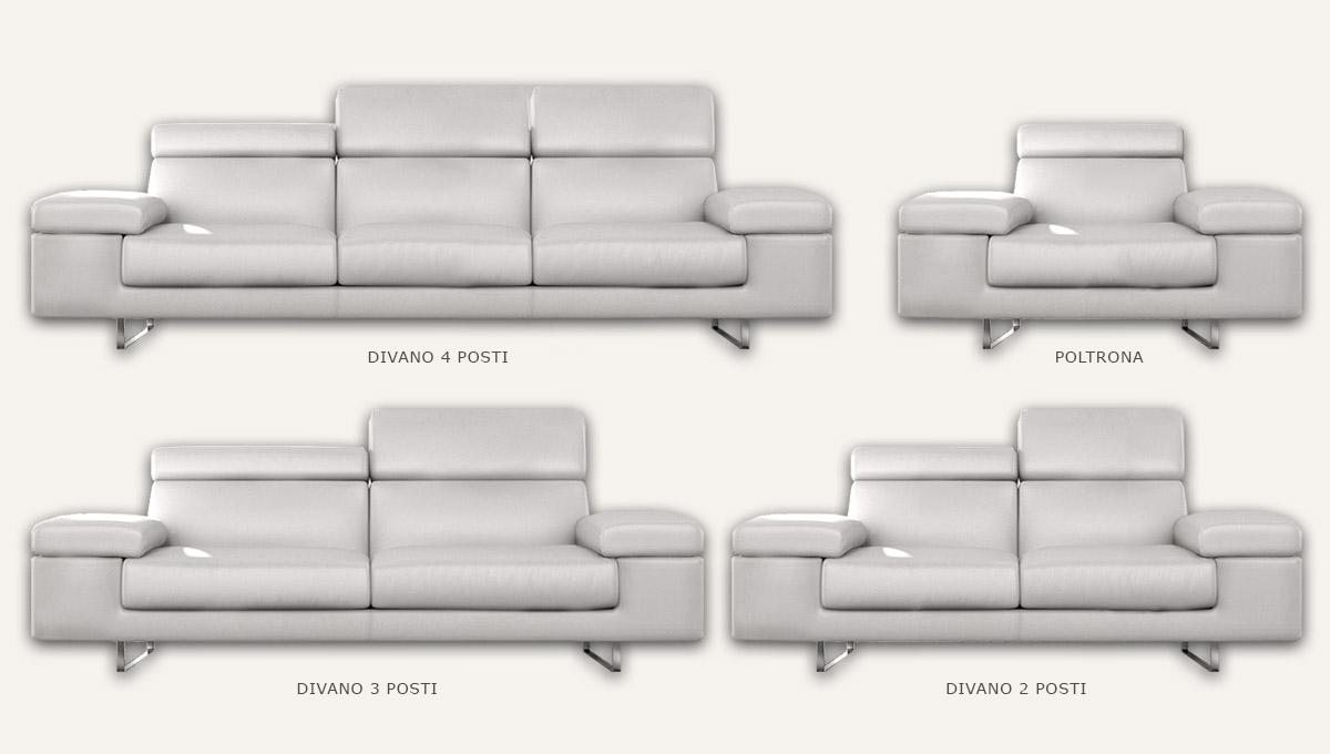 Divano grande in pelle residence - Altezza seduta divano ...