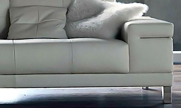 Salotto angolare in pelle vento - Altezza seduta divano ...